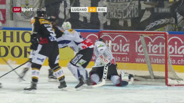 Video «Lugano dreht Partie gegen Biel» abspielen