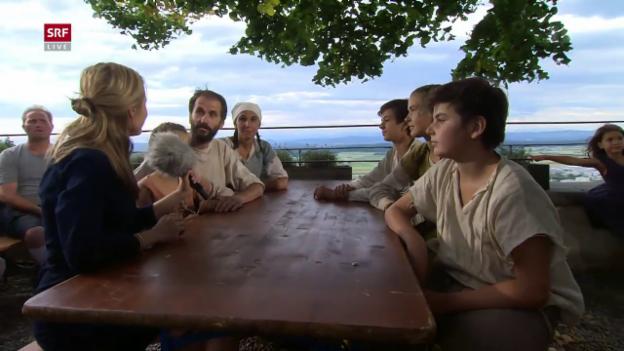 Video «Der letzte Tag im Mittelalter und Pilgerankunft in Fribourg» abspielen