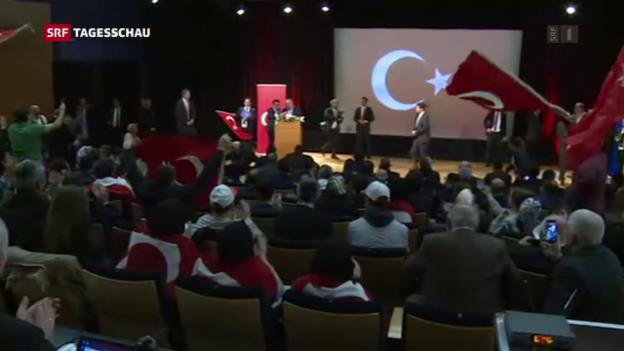 Video «Frankreich gewährt türkischem Aussenminister Auftritt» abspielen