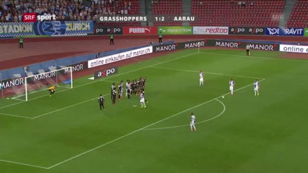 Video «Herrliche Tore in der Super League» abspielen