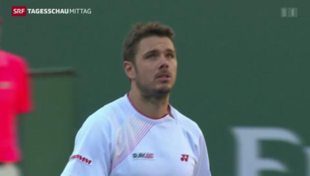 Video «Federer weiter, Wawrinka out» abspielen