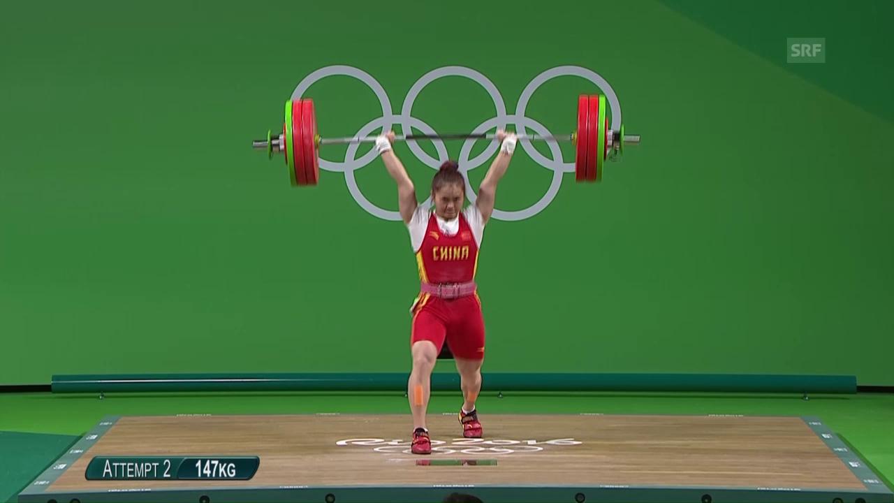 Mit Weltrekord zu Gold: Chinesin Wei Deng