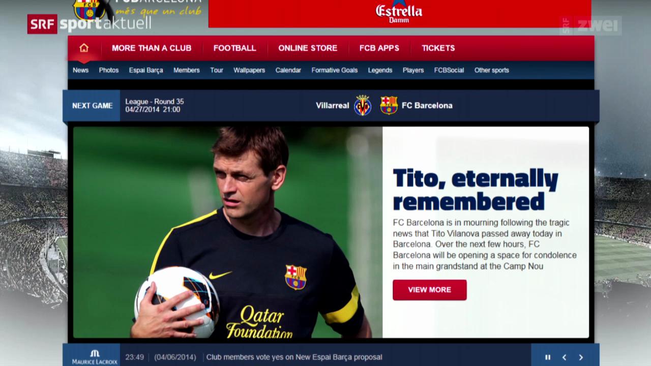 Fussball: Trauer beim FC Barcelona