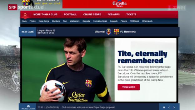 Video «Fussball: Trauer beim FC Barcelona» abspielen