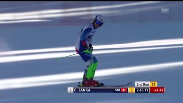 Video «Ski alpin: Der Superkombi-Slalomlauf von Carlo Janka («sportlive»)» abspielen