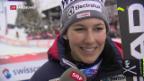 Video «Holdener holt erste Medaille im Super-G» abspielen