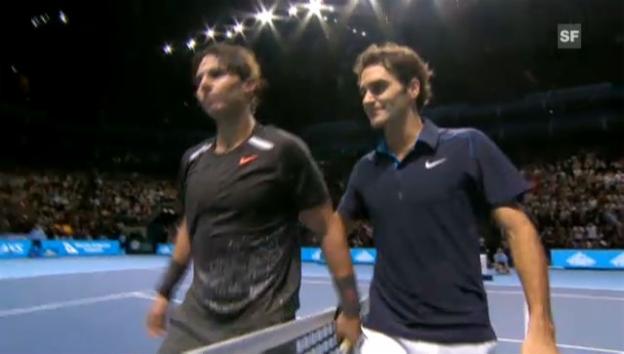Video «ATP Finals: Höhepunkte Federer - Nadal» abspielen