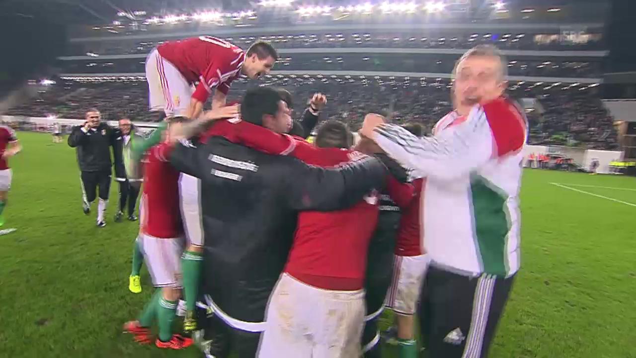 Fussball: EURO-Barrage-Rückspiel, Zusammenfassung Ungarn - Norwegen