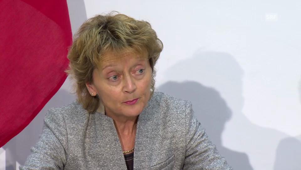 Widmer-Schlumpf: «Entspricht der föderalistischen Kompetenz»