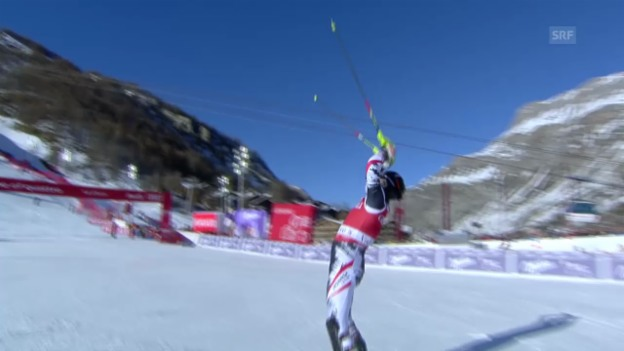 Video «Ski alpin: Slalom Männer Val d'Isère, Mario Matts Siegesfahrt («sportlive», 15.12.2013)» abspielen
