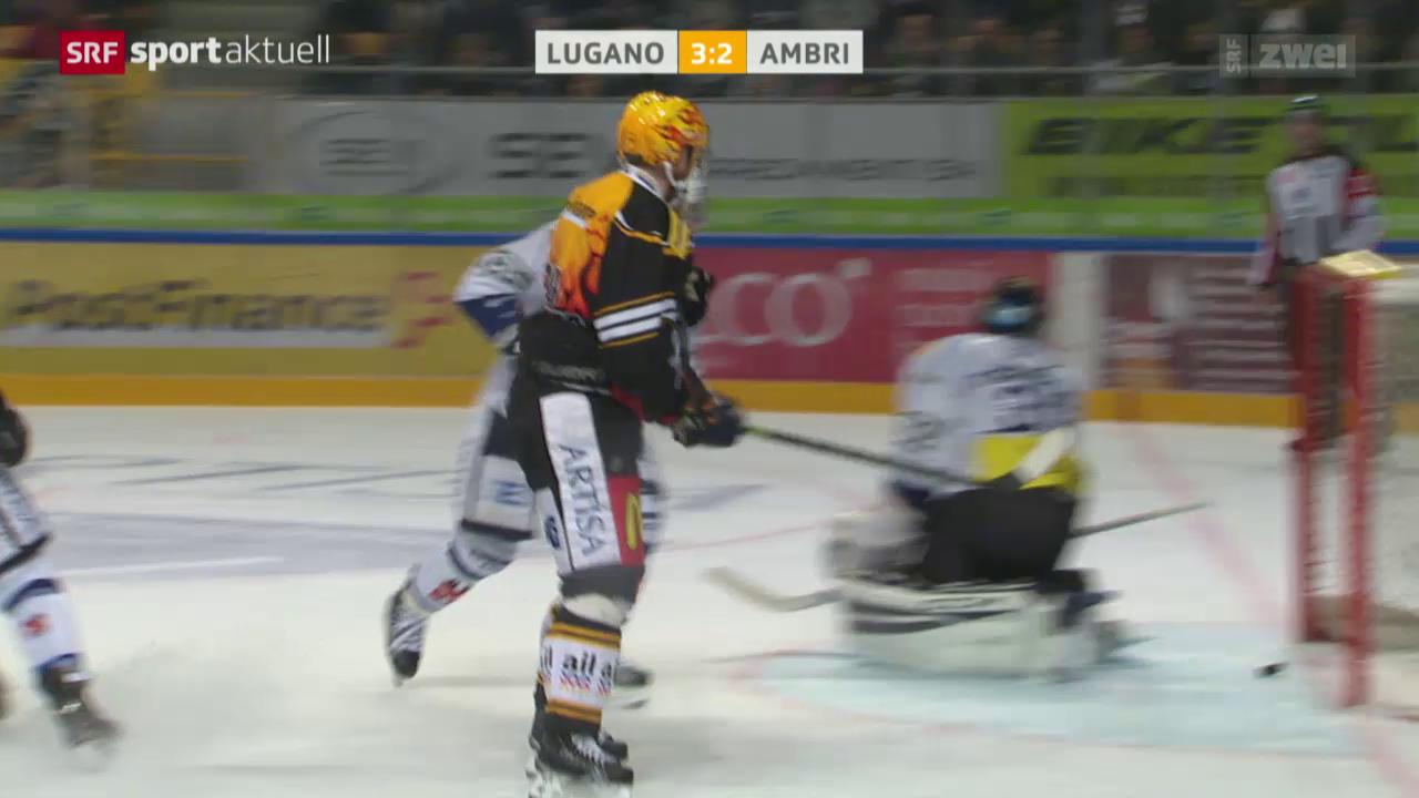 Dank Klasens spätem Doppelpack gewinnt Lugano das Tessiner Derby