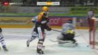 Video «Dank Klasens spätem Doppelpack gewinnt Lugano das Tessiner Derby» abspielen