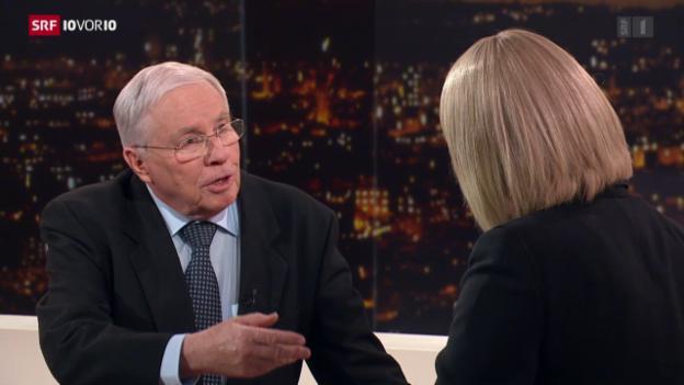 Video «Blocher freut sich über den Alleingang des Bundesrats.» abspielen