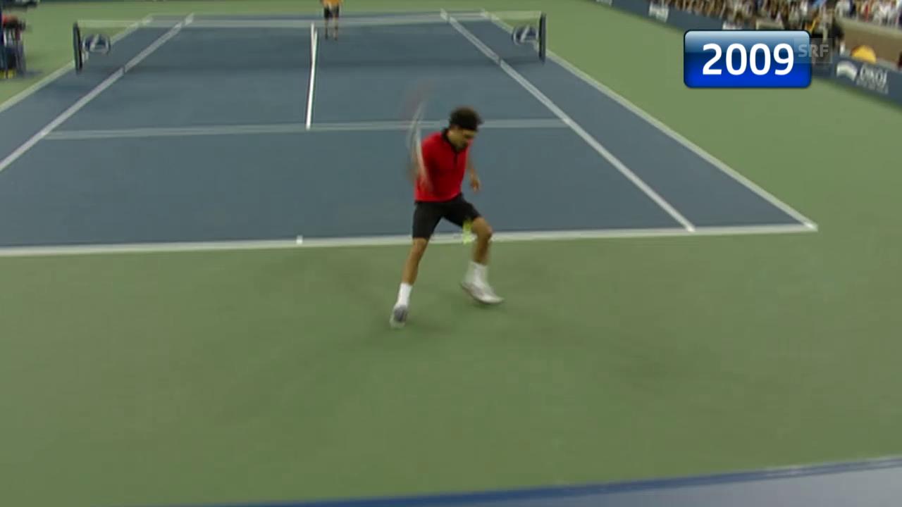Tennis: US Open, die Duelle Federer - Djokovic