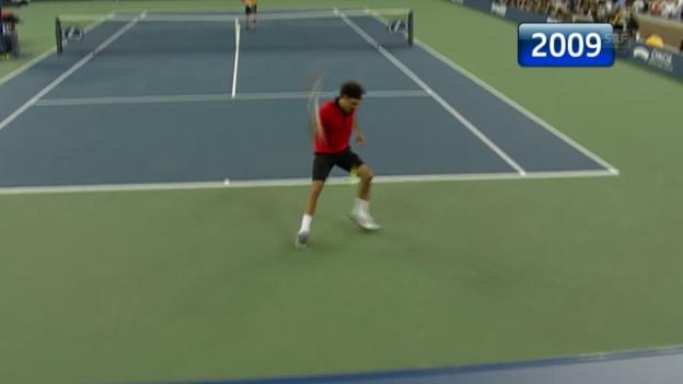 Video «Tennis: US Open, die Duelle Federer - Djokovic» abspielen