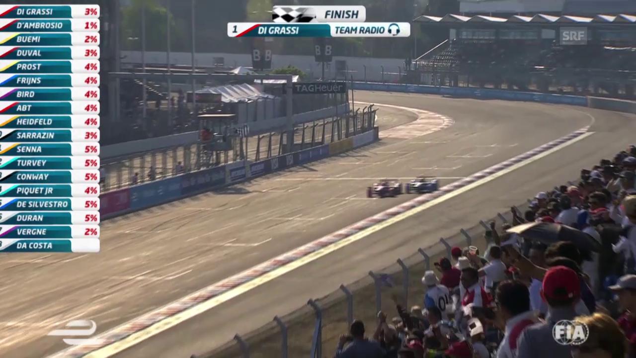 Die Schlussrunde beim Formel-E-Rennen in Mexiko (Quelle: SNTV)
