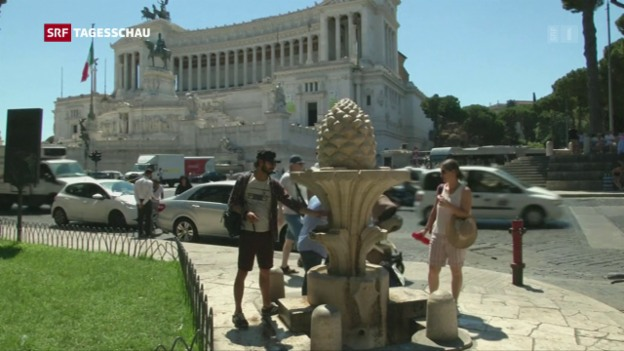 Video «Fliessend Wasser wird in Italien knapp» abspielen