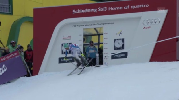 Video «WM-Slalom: 2. Lauf Neureuther» abspielen