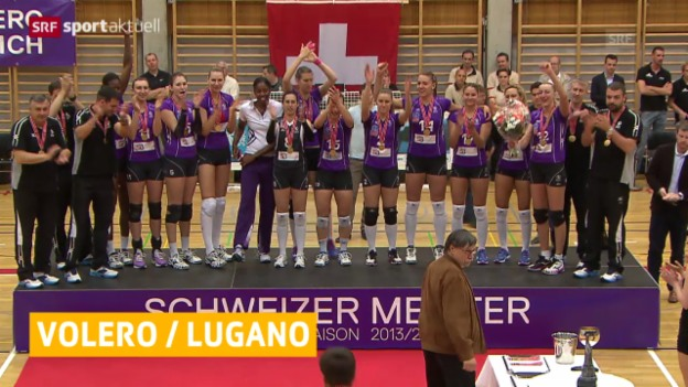 Video «Volero und Lugano sind Meister («sportaktuell»)» abspielen