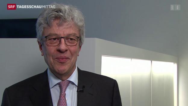 Video «Swiss Re-Chef zum Gewinneinbruch» abspielen