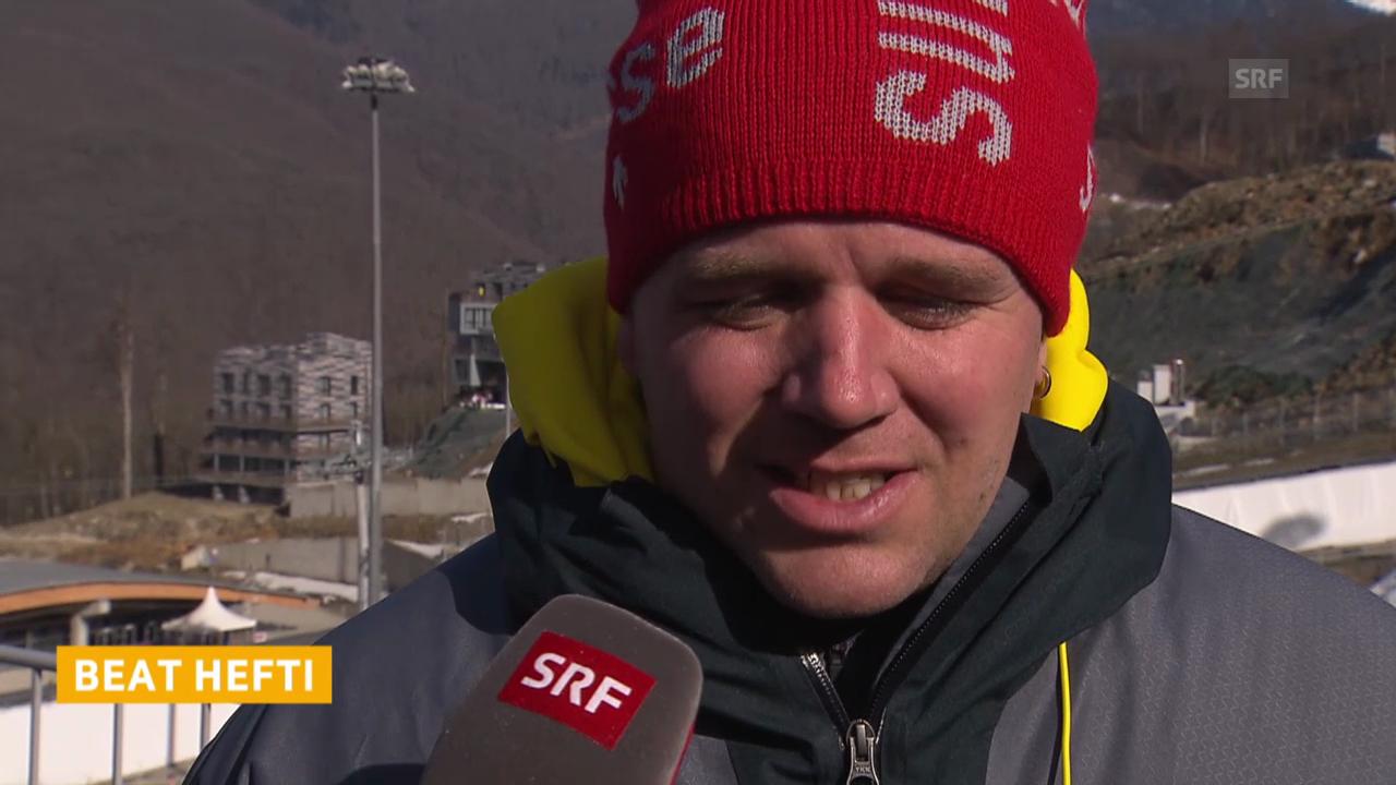 Bob: Viererbob Männer, Interview mit Beat Hefti (sotschi direkt, 23.2.2014)