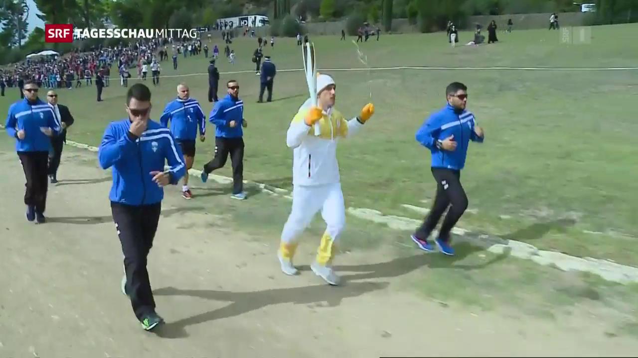 Olympisches Feuer entfacht
