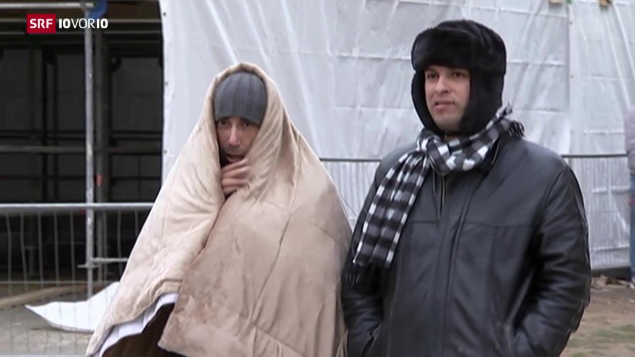 Flüchtlinge leiden unter kaltem Wetter