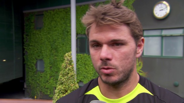 Video «Tennis: Stan Wawrinka vor dem Turnier in Wimbledon» abspielen