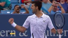 Link öffnet eine Lightbox. Video Djokovic - Raonic: Der Matchball abspielen