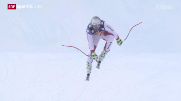 Video «Ski: Abschlusstraining in Kitzbühel» abspielen
