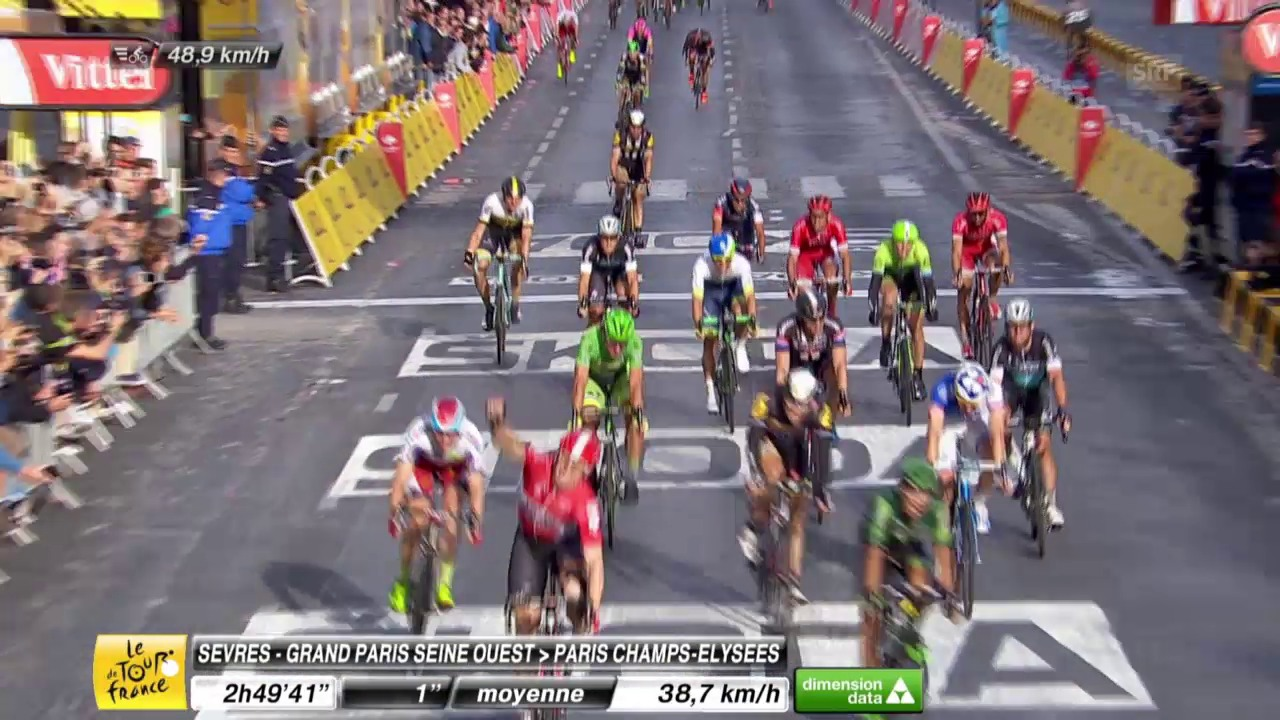 Tour de France: 21. Etappe, Zieleinfahrt