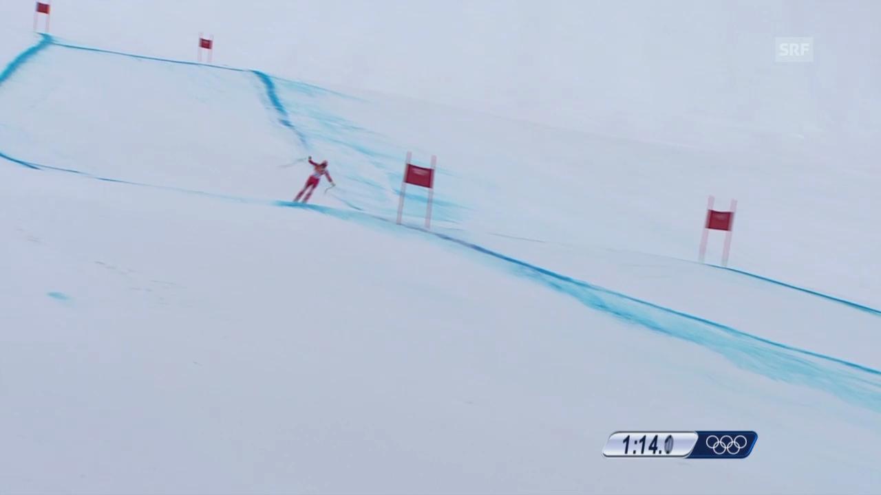 Sotschi: Ski, Abfahrt Männer, Fahrt Défago