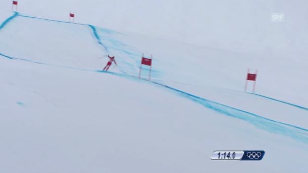 Video «Sotschi: Ski, Abfahrt Männer, Fahrt Défago» abspielen