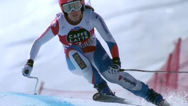 Video «Ski alpin: Weltcup-Finale in Méribel, Frauen-Abfahrt, Dominique Gisin» abspielen