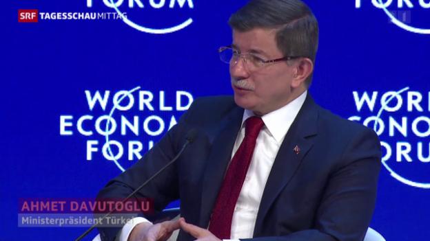 Video «Davutoglu: «Wir betteln nicht um Geld bei der EU»» abspielen