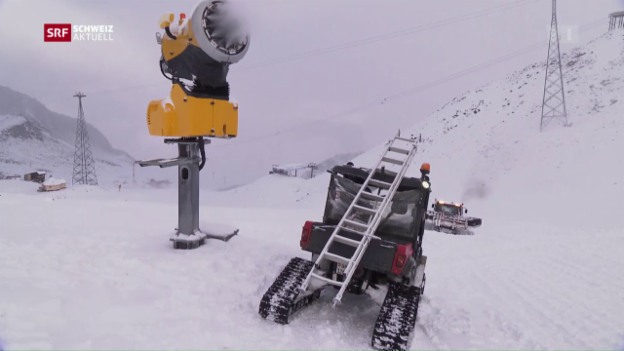 Video «Schneekanonen schon in den Herbstferien» abspielen
