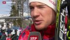 Video «Dario Cologna kämpft am letzten Olympia-Tag» abspielen