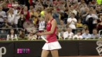 Video «Im der Fed-Cup-Barrage liegt die Schweiz 0:2 hinten» abspielen