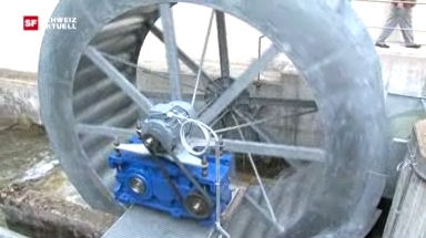 Energiegewinnung mittels Wasserrad