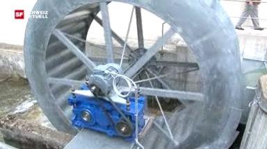 Video «Energiegewinnung mittels Wasserrad» abspielen