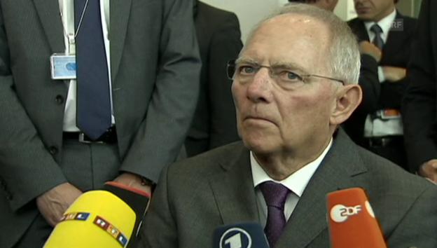 Video «Wolfgang Schäuble gegen Schuldenschnitt» abspielen