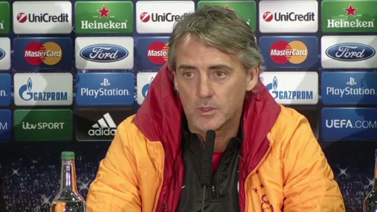 Fussball: Roberto Mancini über Gegner Chelsea (Quelle: SNTV)