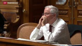 Video «Blocher gibt Nationalratsmandat ab» abspielen