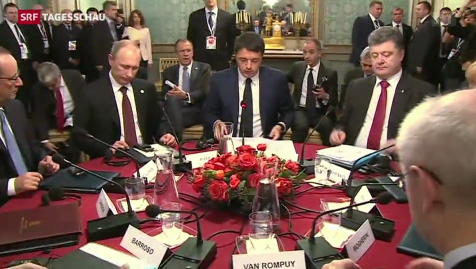 Minimale Annäherung zwischen Russland und der Ukraine
