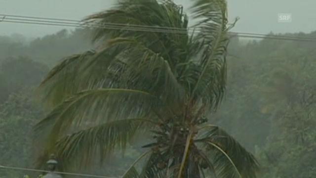 Heftige Regenfälle begleiten Hurrikan «Barbara» (unkomm.)