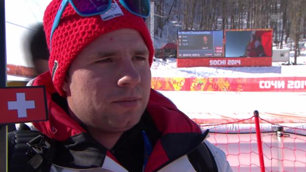 Video «Sotschi, Ski alpin: 1. Abfahrtstraining der Männer, Interview mit Beat Feuz» abspielen