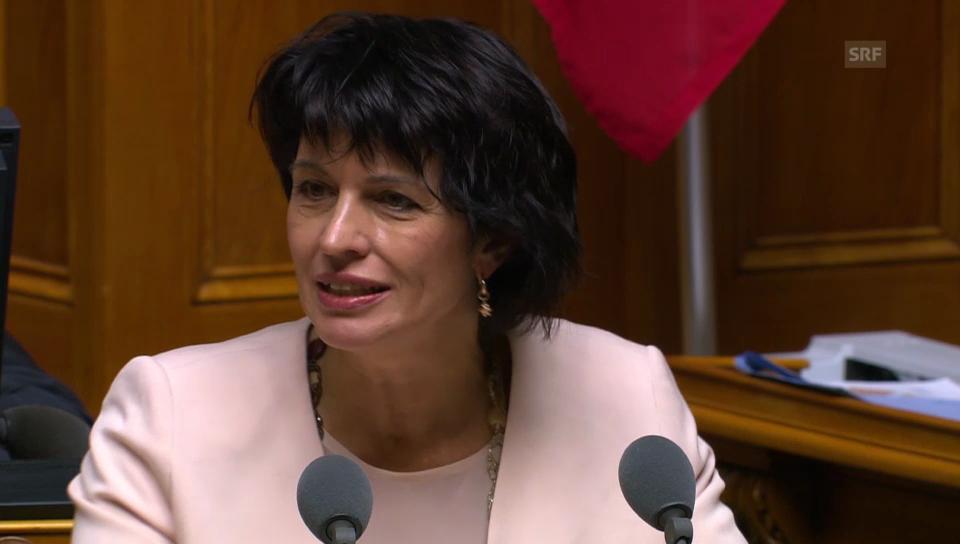 Bundesrätin Leuthard zur Fanzug-Pflicht