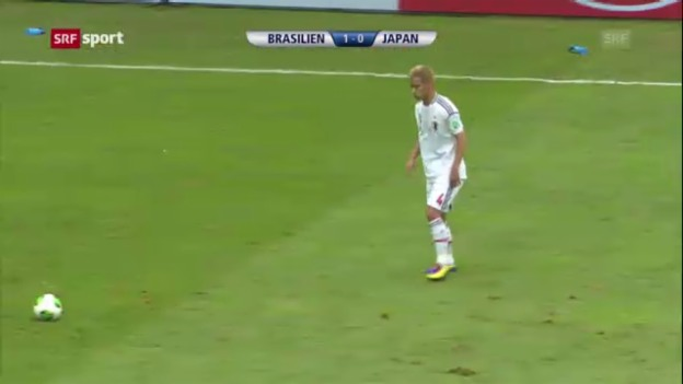 Video «Spielbericht Brasilien - Japan («sportaktuell»)» abspielen
