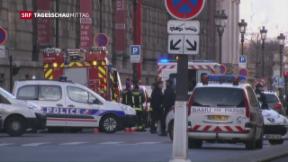 Video «Vereitelter Messerangriff beim Louvre» abspielen