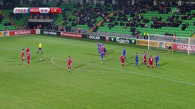Video «Fussball: EM-Qualifikation, das Tor bei Moldawien - Liechtenstein» abspielen